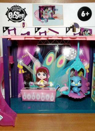 Игровой набор с павлином Hasbro Littlest Pet Shop Dance Club