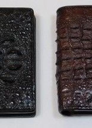 Портмоне из кожи крокодила