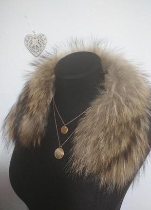 ,,роскошный натуральная меховый накладной воротник на пальто е...