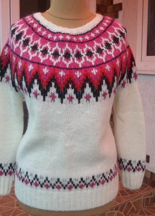 44/46 р h&m шерстяная кофта свитер джемпер пуловер