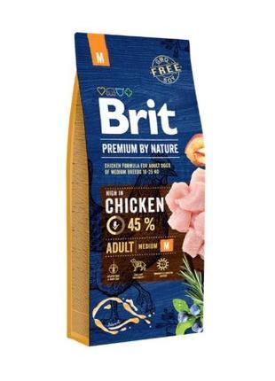 Корм для собак Brit Premium Adult M (Брит Адалт М)