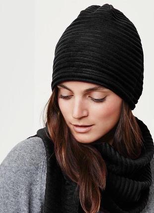 Теплая черная шапка, германия , tcm, tchibo