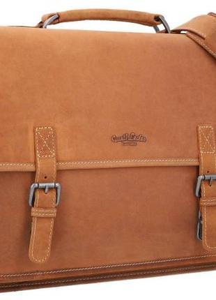 Cтильный мужской портфель, натуральная кожа