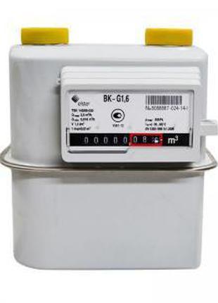 """Газовый мембранный счетчик Elster BK-G 1,6 MТ (1 ¼"""") с термоко..."""