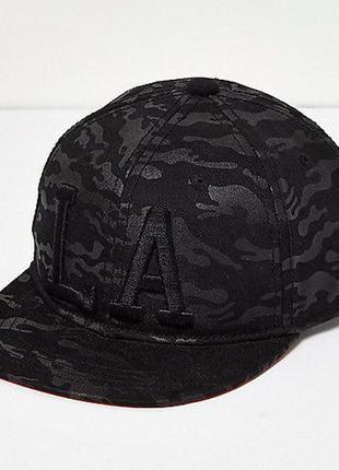 Стильная кепка с принтом и слоганом la - los angeles