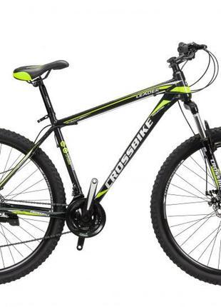 "CrossBike Велосипед CrossBike Leader 29"" 21"" Черный-Желтый"
