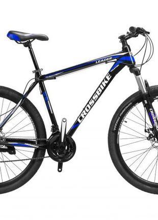 "CrossBike Велосипед CrossBike Leader 29"" 21"" Черный-Синий"