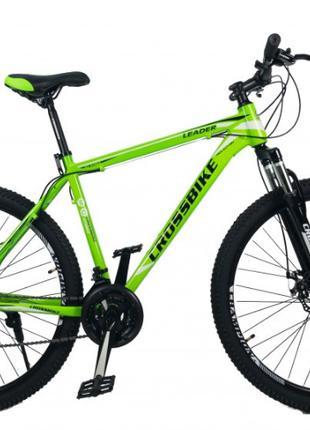 "CrossBike Велосипед CrossBike Leader 29"" 21"" Неоновый зеленый"
