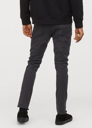 Темные твиловые брюки h&m ! slim fit !