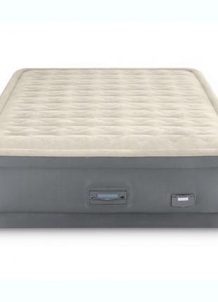 Надувная велюр-кровать Intex 64926 152х203х46 см встроенный эл...