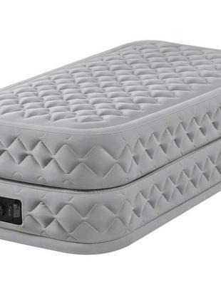 Надувная односпальная кровать со встроенным электрическим насо...