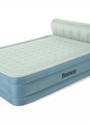 Надувная двухспальная кровать со спинкой Bestway 69060 (229-15...