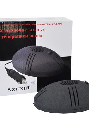 Очиститель ионизатор воздуха для авто ZENET XJ-800 с ароматиза...