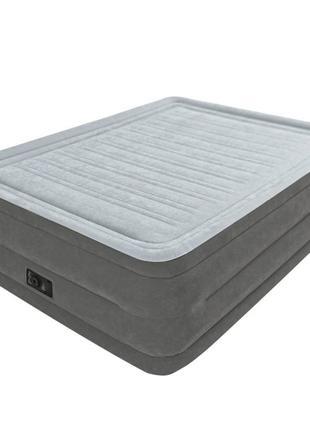Двухспальная надувная флокированная кровать Intex 64418 со вст...