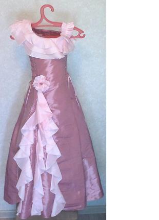 """Нарядное платье eden оттенка """"розовый кварц"""" для девочки разме..."""