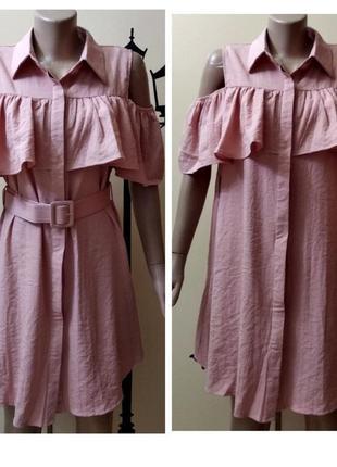 ✅ платье рубашка с воланом