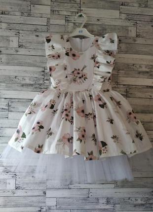 Цветочное платье нарядное на любое торжество