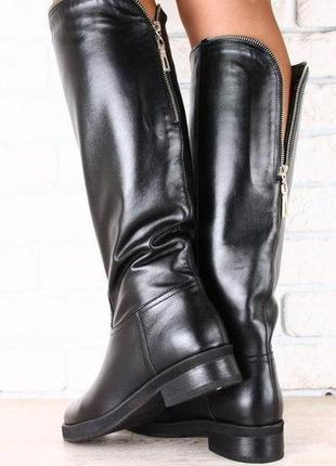 Lux обувь!😍кожаные натуральные высокие сапоги 39р