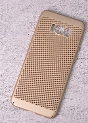 Чехол накладка Loco для Samsung Galaxy S8 Plus/G955 gold
