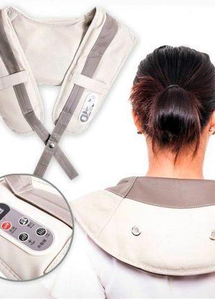 Ударный вибромассажер для спины плеч и шеи Cervical Massage Sh...