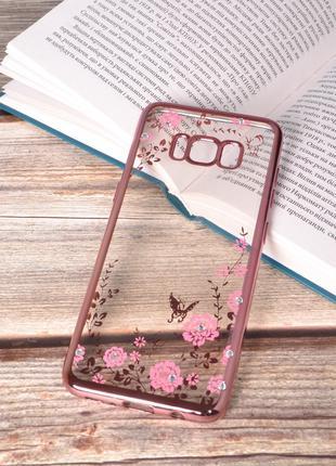 Чехол силиконовый TPU Glaze rose gold для Samsung Galaxy S8/G950