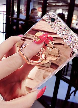 Чехол-накладка TPU Luxury Bear rose gold для Samsung Galaxy S8...