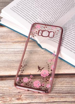 Чехол силиконовый TPU Glaze rose gold для Samsung Galaxy S8 Pl...
