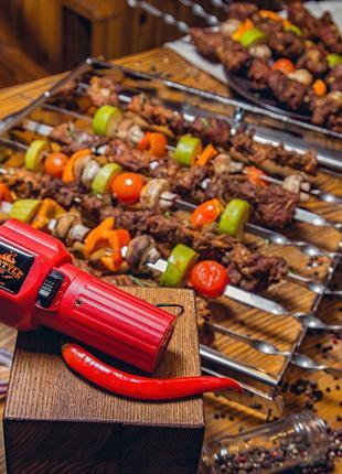 Шашлычница автоматическая Restyle BBQ на 11 шампуров. Барбекю.