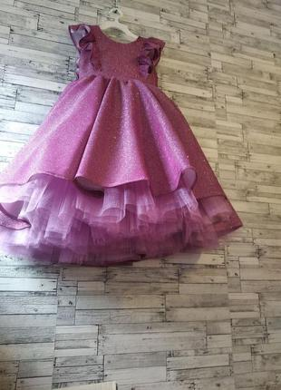 Платье сверкающее для девочки на праздники