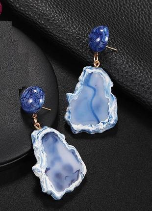 🏵нарядные модные серьги камни, новые! арт. 3393