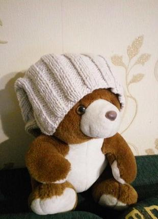 100% merino wool . очень теплая шапка бини из толстой пряжи ше...