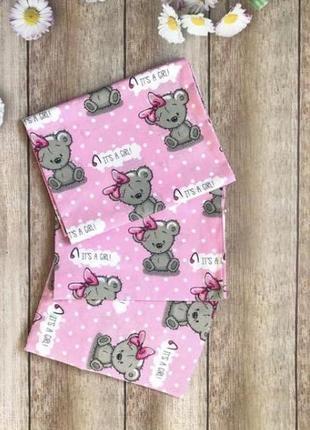 Постельное детское для девочки мишки