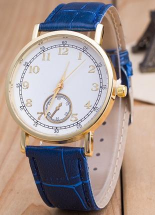 Часы Женева Geneva Питон синий ремешок 023-04