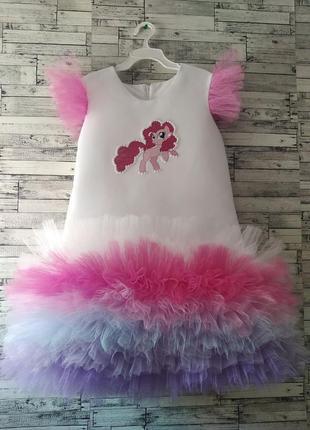 Платье пинки пай для  девочки на любое торжество