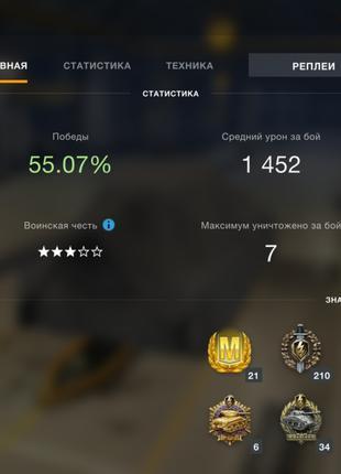 Продам аккаунт world of tanks blitz Европа сервер