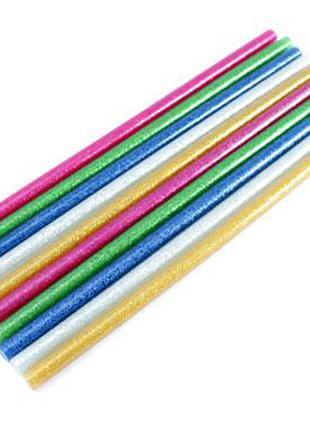 Клей декоративный, стержни цветные для клеевого пистолета 7мм,...