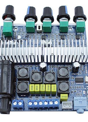 Аудио усилитель мощности звука 2.1ch 2x50Вт+100Вт Bluetooth 5....