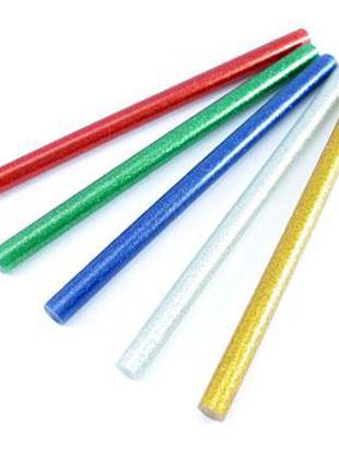 Клей декоративный, стержни цветные для клеевого пистолета 11мм...