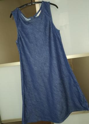 Платье детское, сарафан джинсовый на 9-11 лет