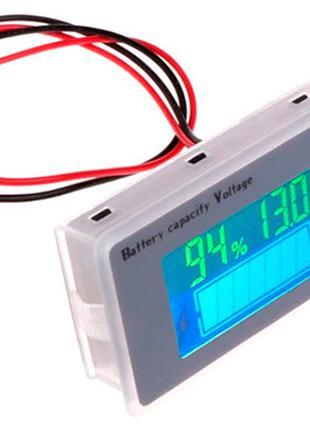 Индикатор заряда аккумулятора % вольтметр 9-100В Li-ion LiFePO...
