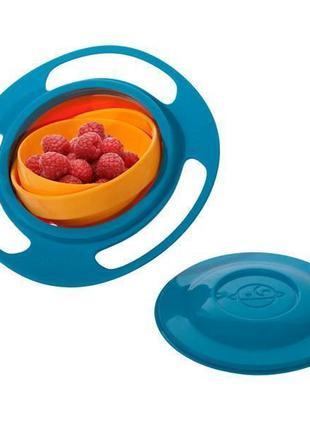 Детская посуда, тарелка непроливайка, Gyro Bowl. Это удобная, ...