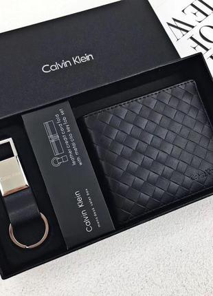 Мужской кошелек calvin klein чёрный