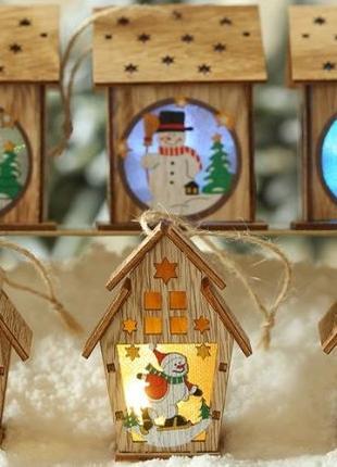 Новорічна іграшка з дерева з підсвіткою. Новогодняя игрушка с ...