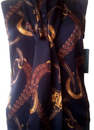 Блуза шелковая Ralph Lauren.