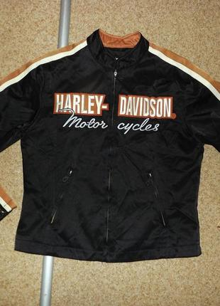 Винтажная женская мотокуртка harley- davidson