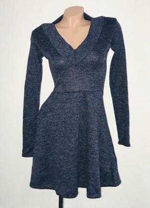 Расклешенное платье трикотаж - рубчик (резинка) отличное качес...