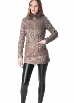 Итальянское пальто с натуральным мехом