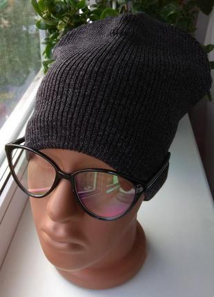 Новая шапка на хлопковой подкладке, темно-серая