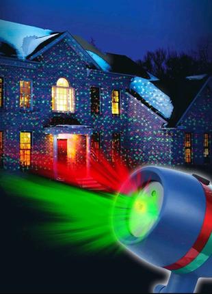 Лазерный проектор на новый год!
