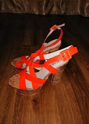 🔥🔥🔥женские яркие новые летние босоножки на толстом каблуке 38 ...